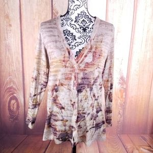 🍾Coldwater Creek Abstract Lightweight Sweater